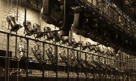Licht in het theater Stock Afbeeldingen