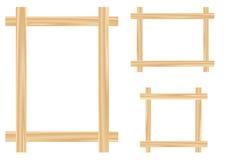 Licht houten kader Royalty-vrije Stock Afbeeldingen
