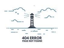 Licht huis 404 vector illustratie