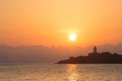 Licht huis in Alcanada op eilandmajorca Royalty-vrije Stock Fotografie