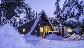 Licht huis bij Fluiter BC Canada Stock Foto's