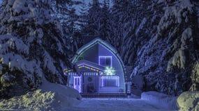 Licht huis bij Fluiter BC Canada Stock Afbeeldingen