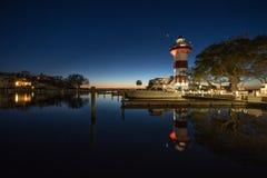Licht Huis in Hilton Head Island stock foto