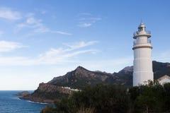 Licht huis in Puerto Soller Majorca Royalty-vrije Stock Fotografie