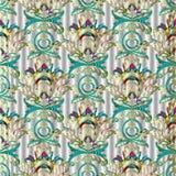 Licht kleurrijk barok naadloos patroon royalty-vrije illustratie