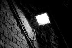 Licht met spinnewebben Royalty-vrije Stock Afbeeldingen