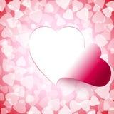 Licht-offener Schnitt-Herz-Hintergrund Stockbilder