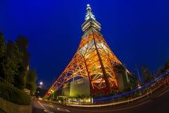 Licht omhoog bij de Toren van Tokyo Royalty-vrije Stock Fotografie