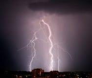 Licht onweer stock foto
