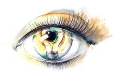 Licht in oog stock illustratie