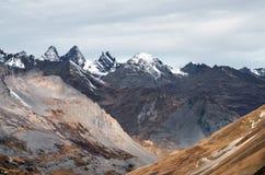 Licht op de alpen, Aiguilles D ` Arves stock afbeelding