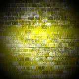 Licht op de bakstenen muur in het centrum van Stock Afbeeldingen