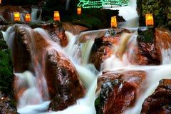 Licht op de waterval Stock Afbeelding