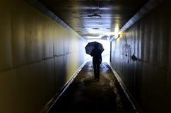 Licht op Eind van Tunnel Stock Afbeelding