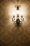 Licht op het behang Royalty-vrije Stock Foto