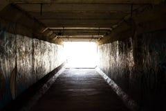 Licht op het eind van de tunnel Royalty-vrije Stock Fotografie