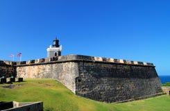 Licht op het Fort stock foto's