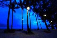 Licht op het strand Stock Afbeeldingen