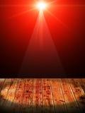 Licht op houten Stock Fotografie