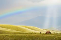 Licht over Nomaden Stock Afbeeldingen