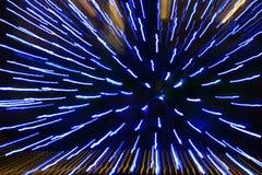 Licht patroon van blauwe lichte stroken Royalty-vrije Stock Foto's