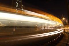 Licht spoor in het bewegen van motie in Hongkong Stock Afbeelding