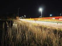 Licht-Spuren durch Poole Lizenzfreies Stockfoto