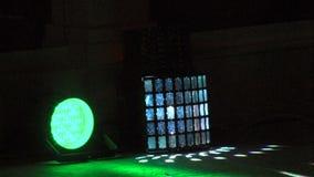 Licht toon in een hotel complex in Kranevo, Bulgarije stock footage