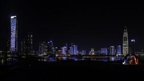 Licht toon in Shenzhen-Talentenpark, CHINA royalty-vrije stock fotografie