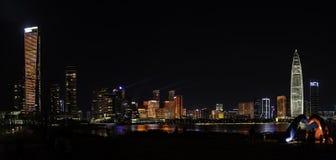 Licht toon in Shenzhen-Talentenpark, CHINA royalty-vrije stock afbeelding