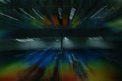Licht toon, vat lange blootstelling, het lichte schilderen samen Royalty-vrije Stock Afbeelding