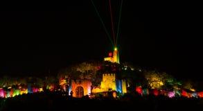 Licht toon in Veliko Tarnovo, Bulgarije Stock Afbeeldingen