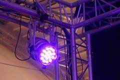 Licht und ein Schatten des Stadiumsreflektors Stockfotografie