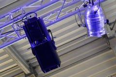 Licht und ein Schatten des Stadiumsreflektors Lizenzfreie Stockbilder