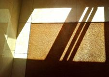 Licht und Schatten Innen Stockfoto