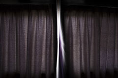 Licht und Vorhang Stockfotografie
