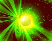 Licht van een nieuwe planeet royalty-vrije illustratie
