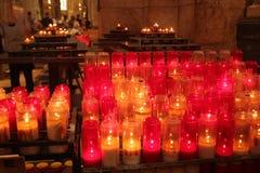 Licht van kaars in Kerstnacht royalty-vrije stock foto