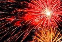 Licht van vuurwerk Royalty-vrije Stock Afbeeldingen