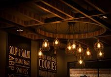 Licht van wolfram in koffie stock afbeelding