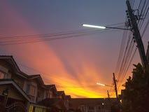 Licht van zonsondergang Stock Foto