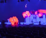 Licht von der Szene während des Konzerts Lizenzfreies Stockfoto