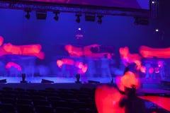 Licht von der Szene während des Konzerts Lizenzfreie Stockbilder