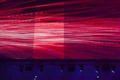 Licht von der Szene während des Konzerts Lizenzfreies Stockbild