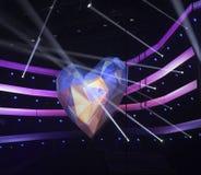 Licht von der Szene während des Konzerts Stockfotos