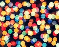 Licht, Zusammenfassung, Unschärfe, Muster, Hintergrund, Blau, hell, glänzend, bokeh, Weihnachten, bunt, Tapetendekorationen Lizenzfreies Stockfoto