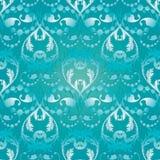 Lichtblauw Barok naadloos patroon vector illustratie