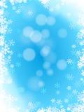 Lichtblauw de winterpatroon met sneeuwvlokken Royalty-vrije Stock Afbeelding