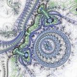 Lichtblauw fractal uurwerk vector illustratie