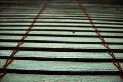 Lichtblauw houten blind royalty-vrije stock foto
